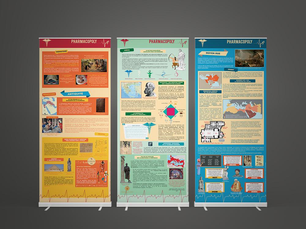 Exposition sur la saga des médicaments Pharmacopoly - Panoramuse - visuel 1