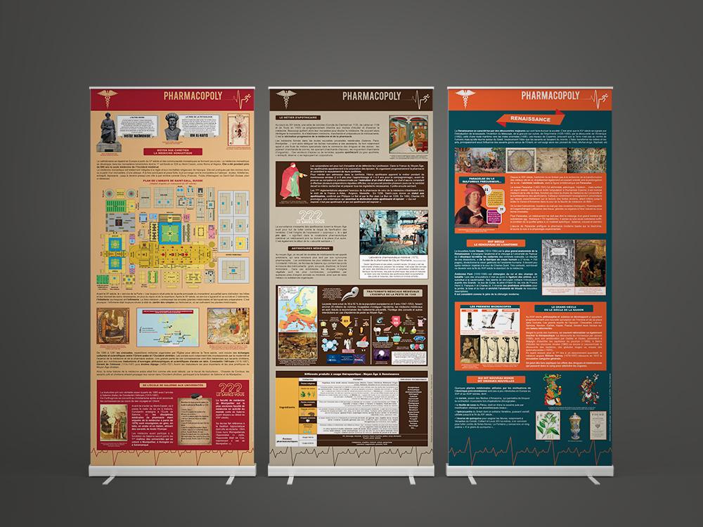 Exposition sur la saga des médicaments Pharmacopoly - Panoramuse - visuel 2