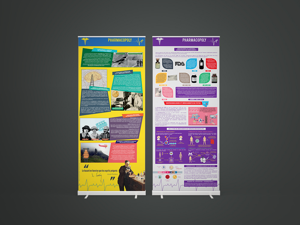 Exposition sur la saga des médicaments Pharmacopoly - Panoramuse - visuel 4